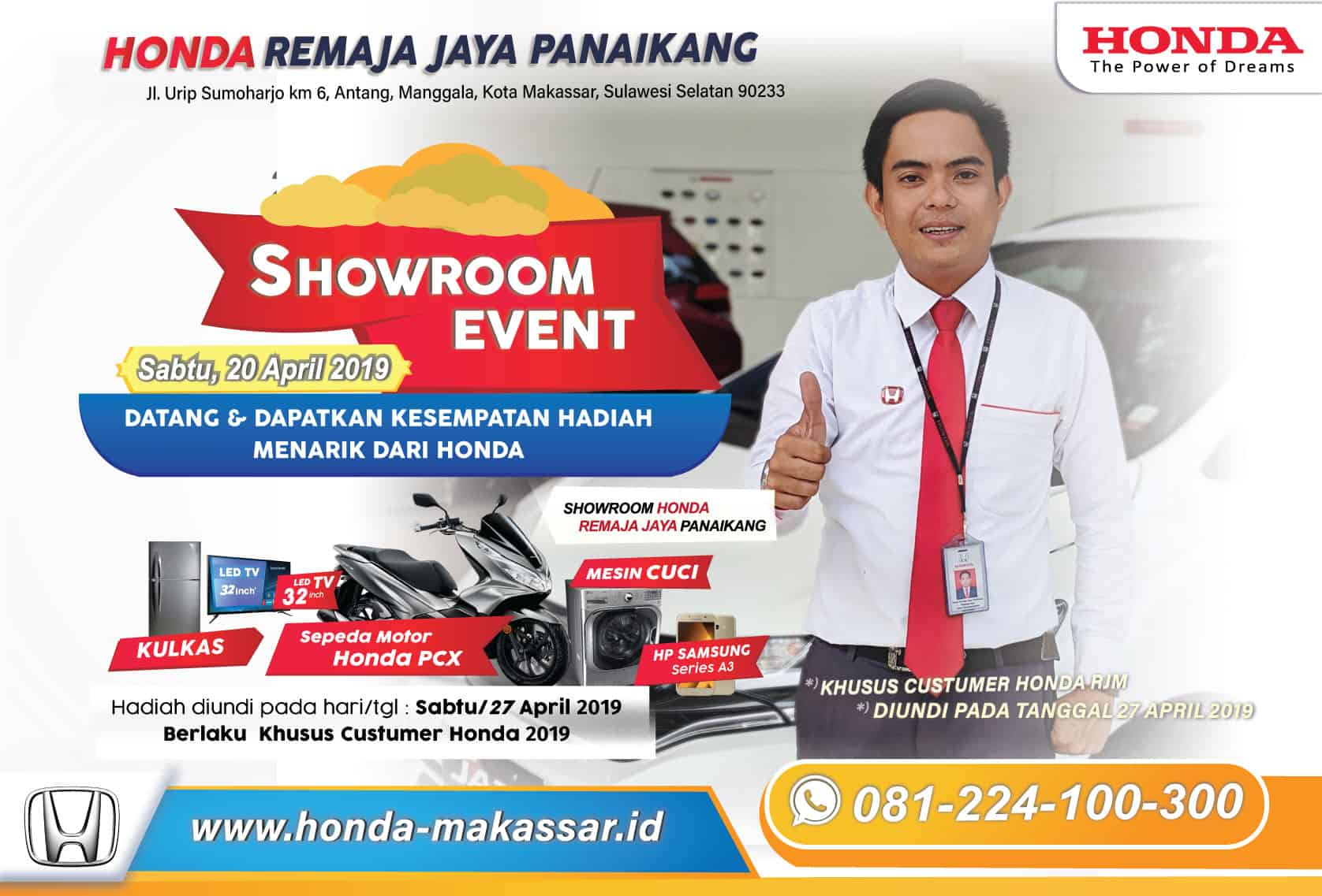 SHOWROOM EVENT 2019 HONDA RJM PANAIKANG MAKASSAR